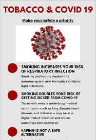 Tobacco & COVID-19 - CTSI & IU Simon Comprehensive Cancer Center Infographic