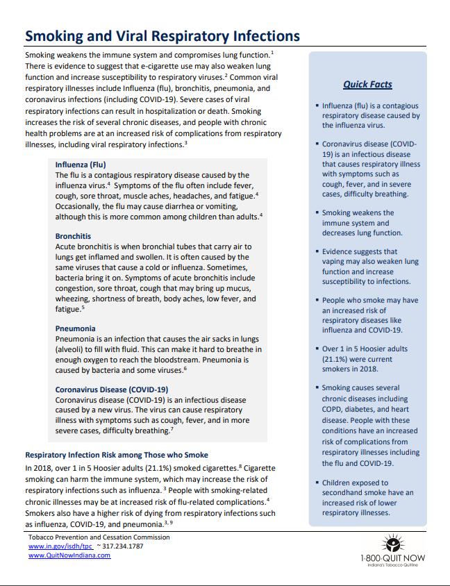 Smoking & Viral Respiratory Infections - TPC Factsheet