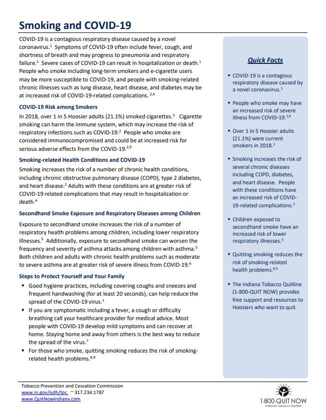 Smoking and COVID-19 - TPC Factsheet